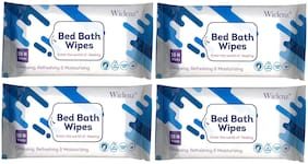 Wiclenz Bed Bath Wipes  Set Of 10 Wipes  Pack Of 4
