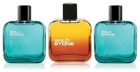 Wild Stone 2 Edge and 1 Night Rider Perfume for men (Pack of 3  100ml each)