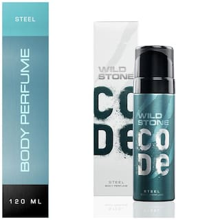 Wild Stone Code Steel Body Perfume for Men, 120ml