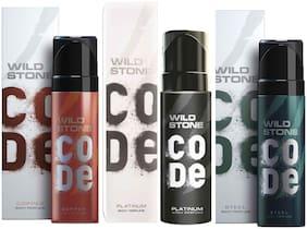 Wild Stone Code Copper Platinum & Steel Combo