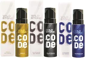 Wild Stone Code Gold Platinum & Titanium Combo