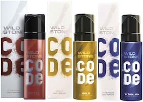 Wild Stone Code Copper Gold & Titanium Combo