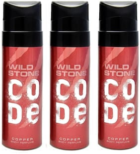 Wild Stone Code Copper Perfume Body Spray Pack of 3 Combo (120Ml Each)