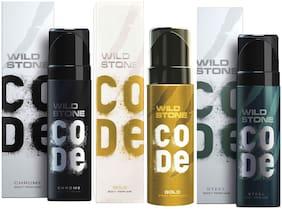 Wild Stone Code Chrome Gold & Steel Combo