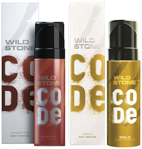 Wild stone Code ( Copper + Gold ) Body perfume - 120 ml Each