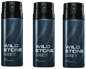 Wild Stone Deo Grey (Pack Of 3) 150 Ml Each