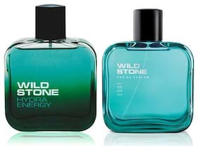 Wild Stone Edge and Hydra Energy Perfume for men (Pack of 2  100ml each)