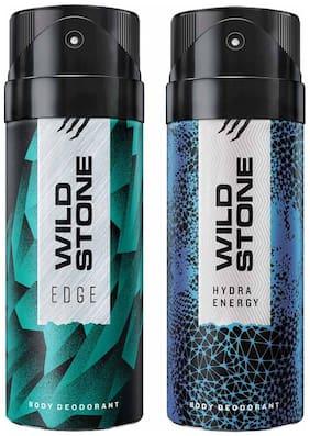 Wild Stone Edge And Hydra Energy Deodorant For Men 150 ml (Pack Of 2)