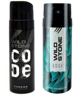 Wild Stone Edge Deodorant and Chrome Code Combo (Pack of 2;150 ml + 120 ml)
