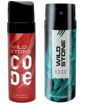 Wild Stone Edge Deodorant and Copper Code Combo(Pack of 2;150 ml + 120 ml)