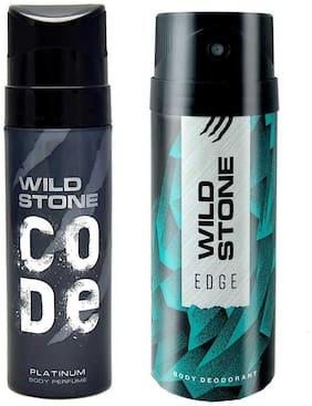 Wild Stone Edge Deodorant and Platinum Code Combo (Pack of 2;150 ml + 120 ml)