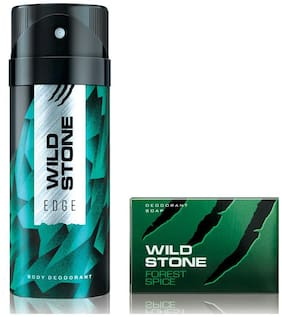 Wild Stone Edge Deodorant(150ml each) and Forest Spice Soap(75gms each) Pack of 2