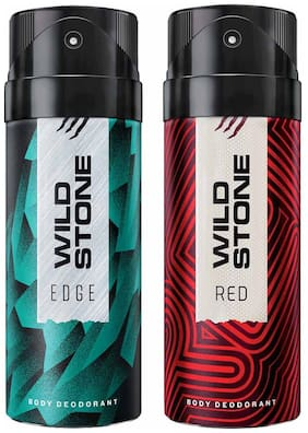 Wild Stone Edge And Red Deodorant For Men 150 ml (Pack Of 2)