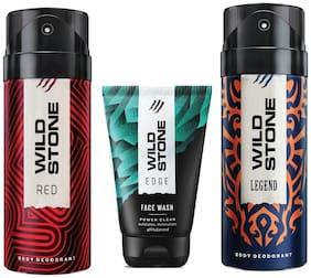 Wild Stone Edge Facewash;Red and Legend Deodorant (Pack of 3)