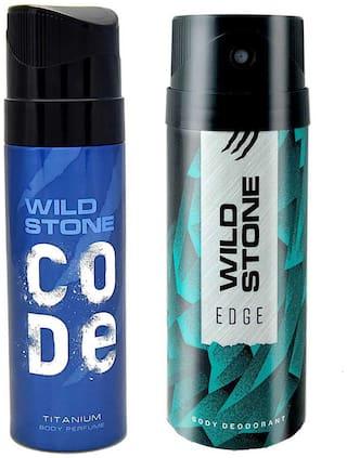 Wild Stone Edge Deodorant and Titanium Code Combo (Pack of 2;150 ml + 120 ml)
