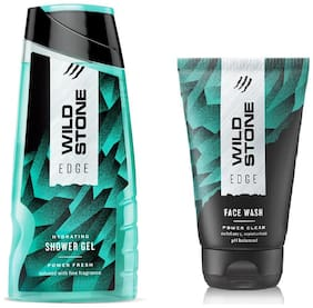 Wild Stone Edge Shower Gel (200 ml ) and Face wash (100 ml) For Men - Pack of 2