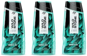 Wild Stone Edge Shower Gel For Men- 200 ml (Pack of 3)