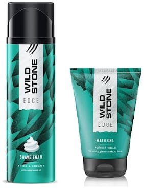 Wild Stone Edge Shave Foam (200 gm) and Hairgel (50 gm) - Pack of 2