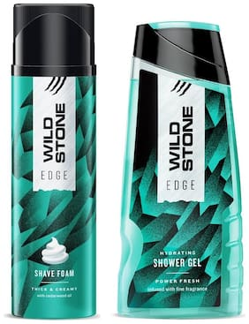 Wild Stone Edge Shower Gel (200 ml) and Shave Foam (200 gm)- Pack of 2