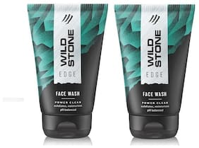 Wild Stone Edge Face wash for men, 50 ml each - pack of 2