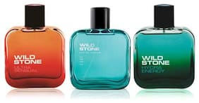 Wild Stone Edge 50ml;Hydra Energy 50mlAnd Ultra Sensual Perfume For Men 50ml (Pack Of 3)