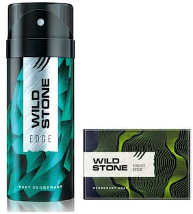 Wild Stone Edge Deodorant(150ml ) and Forest Spice Soap(125g ) Pack of 2