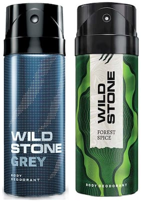 Wild Stone Forest Spice & Grey Deodorant (Pack Of 2)