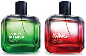 Wild Stone Forest Spice 50ml And Ultra Sensual Perfume 50ml (Pack of 2)
