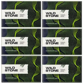Wild Stone Forest Spice Soap Combo for Men Pack of 6 (100 g each)