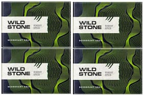 Wild Stone Forest Spice Soap For Men - 125 g (Pack of 4)