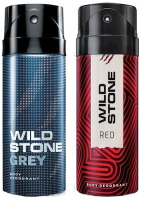 Wild Stone Grey & Red Deodorant (Pack Of 2)