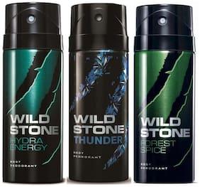 Wild stone ( Hydra energy + Thunder + Forest spice ) Deos - 150 ml Each