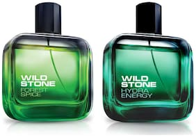 Wild Stone Hydra Energy And Forest Spice Perfume Combo (50 ml) Pack of 2