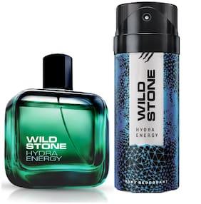 Wild Stone Hydra Energy EDP(100 ml) and Deodorant (150 ml) (Pack of 2)