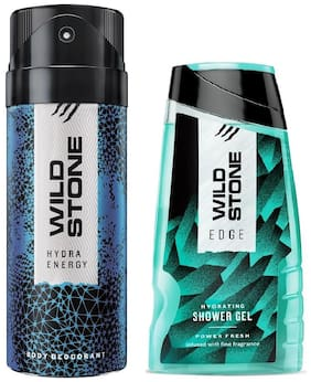 Wild Stone Hydra Energy Deodorant (150 ml) and Edge Shower Gel (100 g) For Men - Pack of 2