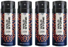 Wild Stone Legend Deodorant For Men, Pack of 4 (150 ml each)