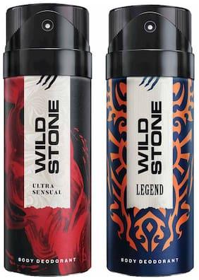 Wild Stone Legend & Ultra Sensual Deodorant (Pack Of 2)