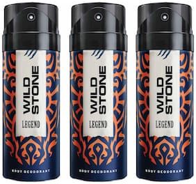 Wild Stone Legend Deodorant Spray - For Men (450 ml Pack Of 3)