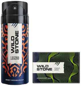 Wild Stone Legend Deodorant(150ml ) and Forest Spice Soap(125g ) Pack of 2