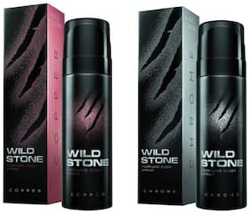 Wild Stone Chrome And Copper Perfume Body Spray Combo Pack 2 (120 Ml Each)