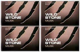 Wild Stone Musk Soap For Men  125 gm each (Pack of 4)