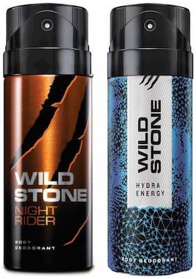 Wild Stone Night Rider & Hydra Energy Deodorant (Pack Of 2)