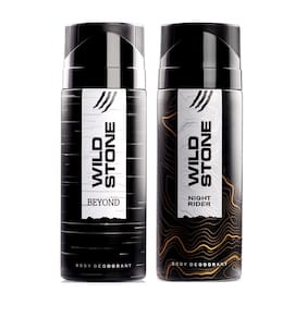 Wild Stone Night Rider 150 ml and Beyond Deodorant 150 ml for Men (Pack of 2)