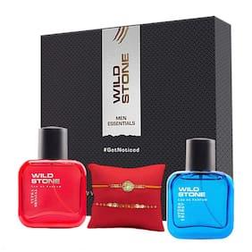 Wild Stone Rakhi Gift Hamper for Brother- Ultra Senual Perfume 30ml and Hydra Energy Perfume 30ml with 2 Rakhi