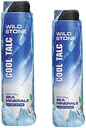 Wild Stone Sea Minerals Cool Talcum For Men;Pack of 2 (100g+300g)