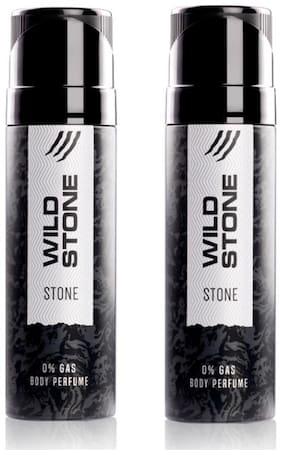 Wild Stone Stone Perfume Body Spray for Men, Pack of 2 (120ml each)