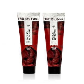 Wild Stone Ultra Sensual Shaving Cream for Men, Pack of 2 (78g each)