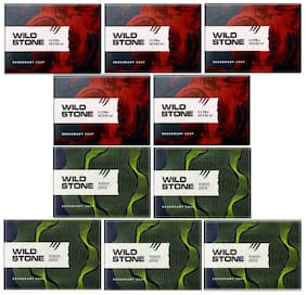 Wild Stone Ultra Sensual and Forest Spice Soap Combo for Men Pack of 10 (100 g each)