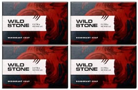 Wild Stone Ultra Sensual Soap For Men  125 g each (Pack of 4)