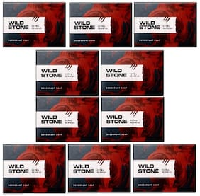 Wild Stone Ultra Sensual Soap Combo for Men Pack of 10 (100 g each)